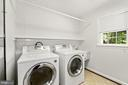 Main level laundry with front loading machines - 7808 CHARLESTON DR, BETHESDA