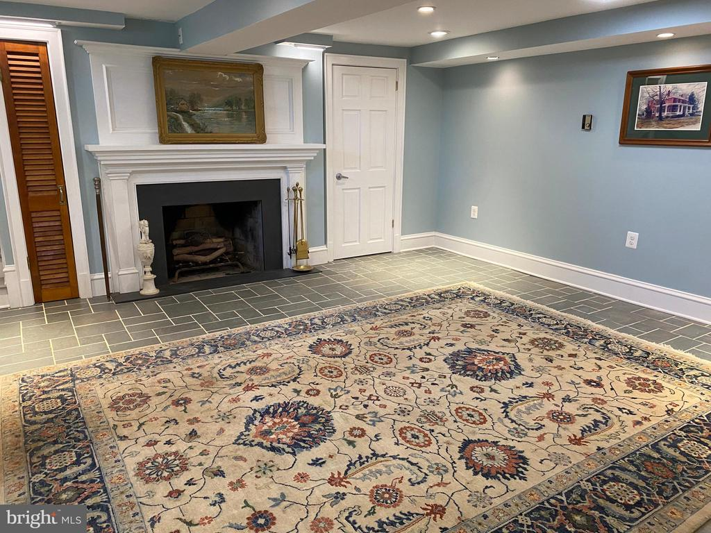 Finished Basement with Wood Burning Fireplace - 100 E COLONIAL HWY, HAMILTON