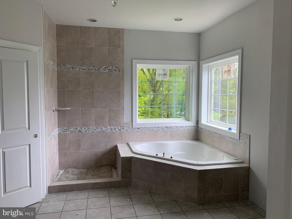 Master Bath Soaking  tub and shower - 7906 KENT RD, ALEXANDRIA