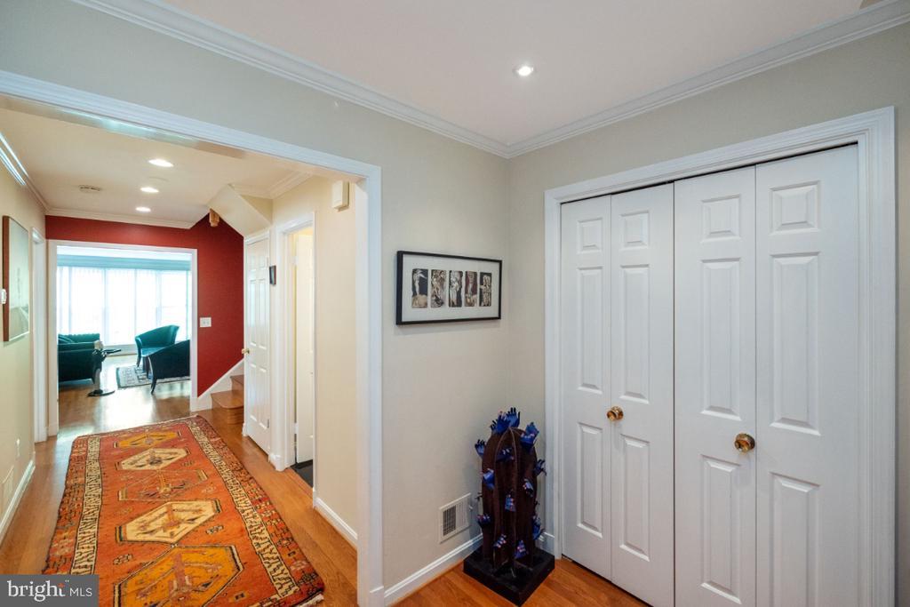 Hall to living room - 4732 MASSACHUSETTS AVE NW, WASHINGTON
