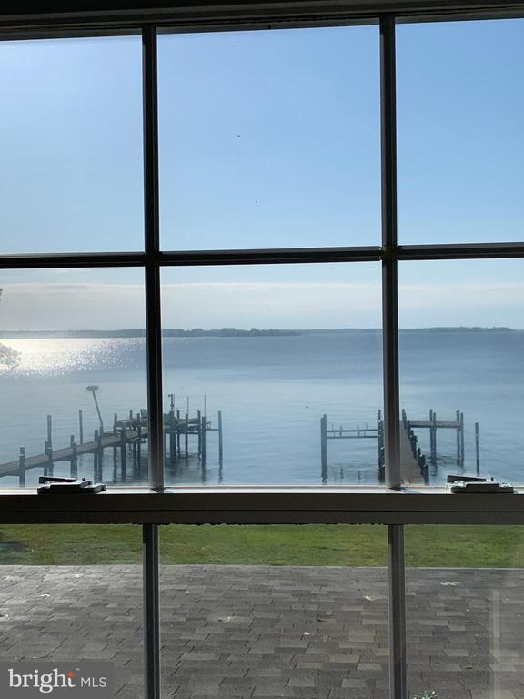 water view from upstairs - 18850 WICOMICO RIVER DR, COBB ISLAND