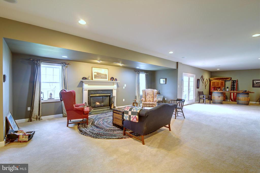 Lower Level Great Room with Gas Fireplace - 22077 OATLANDS RD, ALDIE