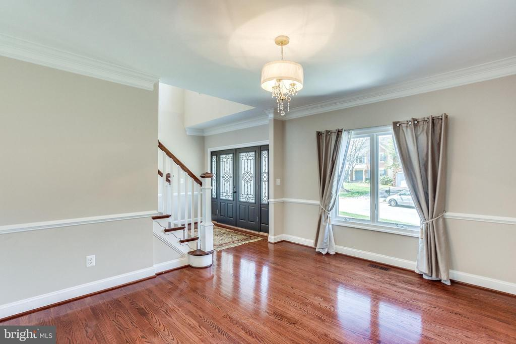 Large Living Room with New Crown and Chair Molding - 10811 CRIPPEN VALE CT, RESTON