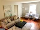 Sunlit living room - 7411 RIDGEWOOD AVE, CHEVY CHASE