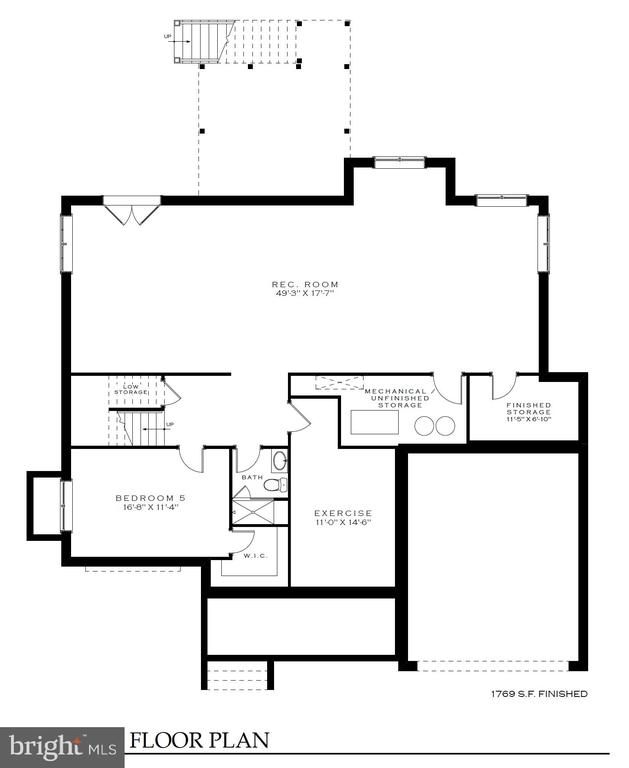 Basement  floor plan - 4042 21st St  N, Arlington - 4042 21ST ST N, ARLINGTON