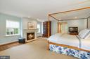 MASTER SUITE W/ FIREPLACE (19'10