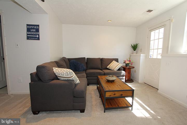 Lower level rec room with walk up exit - 1594 WOODCREST DR, RESTON