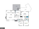 Existing home's main level floor plan - 7358 SHENANDOAH AVE, ANNANDALE