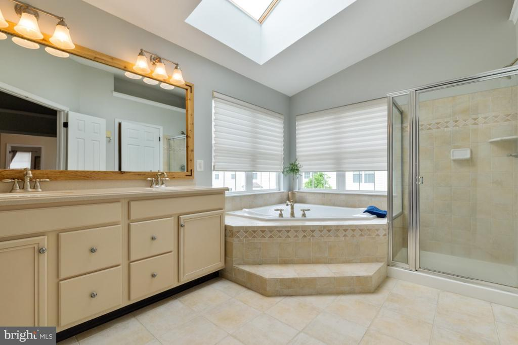 Luxury Master Bath with Soaking Tub & Shower - 43392 FRENCHMANS CREEK TER, ASHBURN