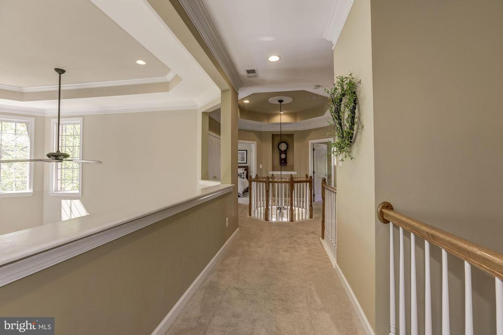 Upper level hall with overlook to family room - 43285 OVERVIEW PL, LEESBURG