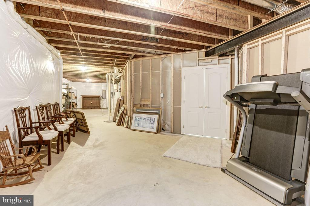 Large storage area - part could be media room - 43285 OVERVIEW PL, LEESBURG