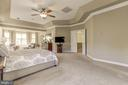 Spacious master bedroom with double doors - 43285 OVERVIEW PL, LEESBURG