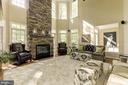 Stone floor to ceiling gas fireplace and mantle - 43285 OVERVIEW PL, LEESBURG
