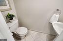 Main Level Updated Half Bath w/Marble Floor - 3030 N QUINCY ST, ARLINGTON