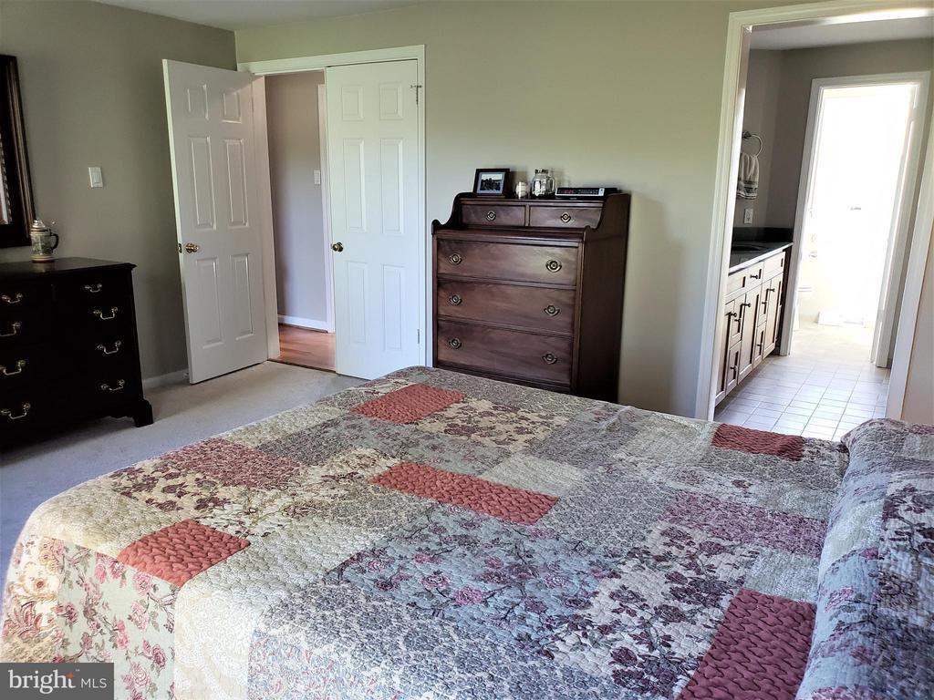 Master Bedroom toward Master Bath/ French Dr - 11629 DUTCHMANS CREEK RD, LOVETTSVILLE