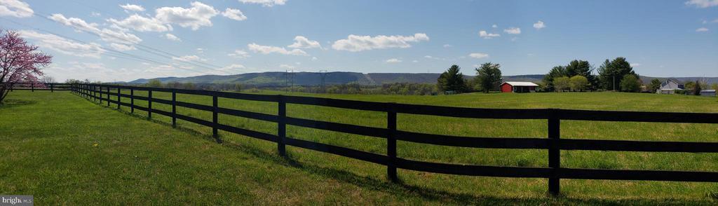 Rear Yard panoramic View  behind fence - 11629 DUTCHMANS CREEK RD, LOVETTSVILLE