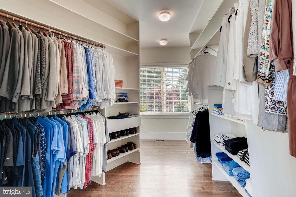 Master Bedroom walk-in closet; roughin 2nd laundry - 2200 GADD RD, COCKEYSVILLE