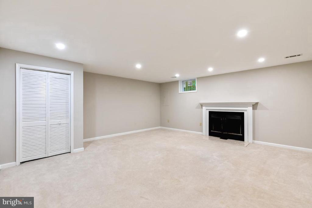 Expansive Rec/Family area with Fireplace - 7307 TREETOP HILL LN, SPRINGFIELD