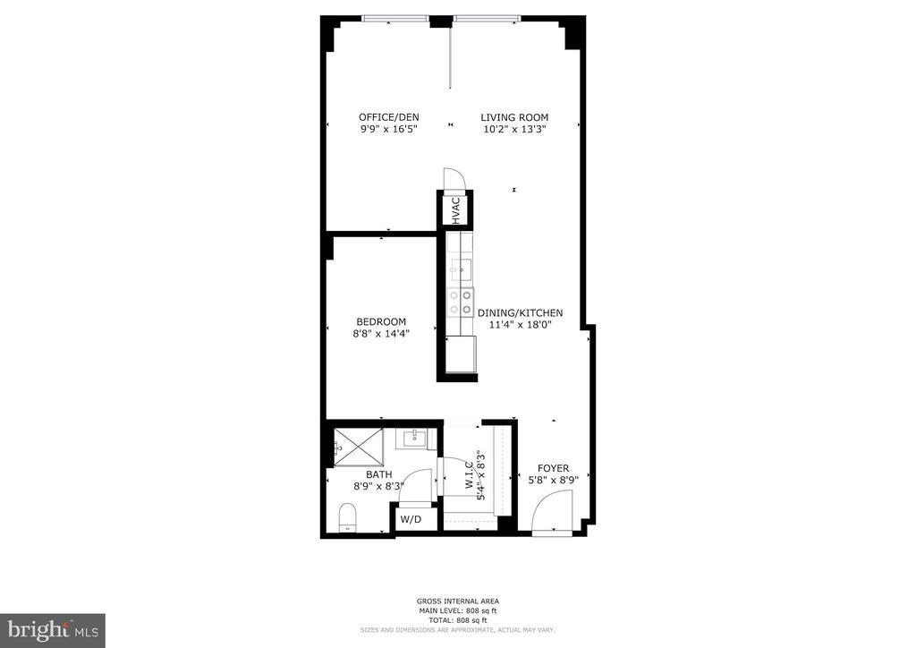 Open Floor Plan - 1133 14TH ST NW #1211, WASHINGTON