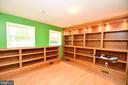Basement library - built in lighted shelving - 79 MILLBROOK RD, STAFFORD
