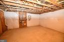 Basement unfinished storage - 79 MILLBROOK RD, STAFFORD