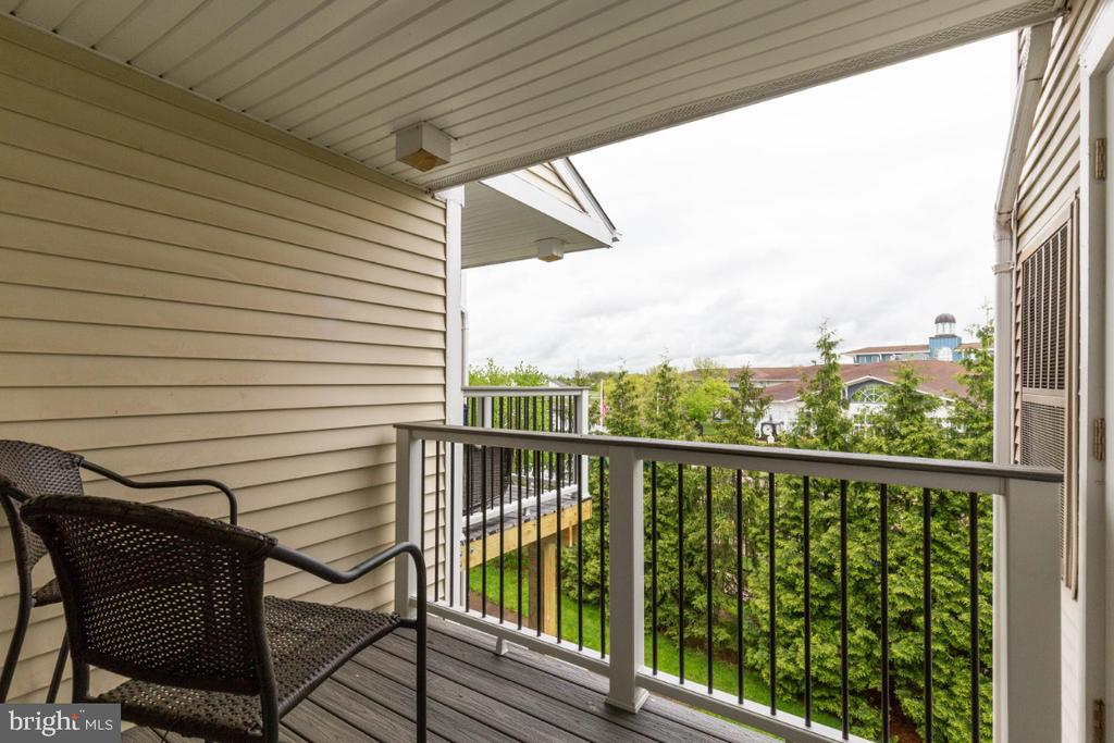 New Composite Balcony off the Family Room - 20578 SNOWSHOE SQ #301, ASHBURN