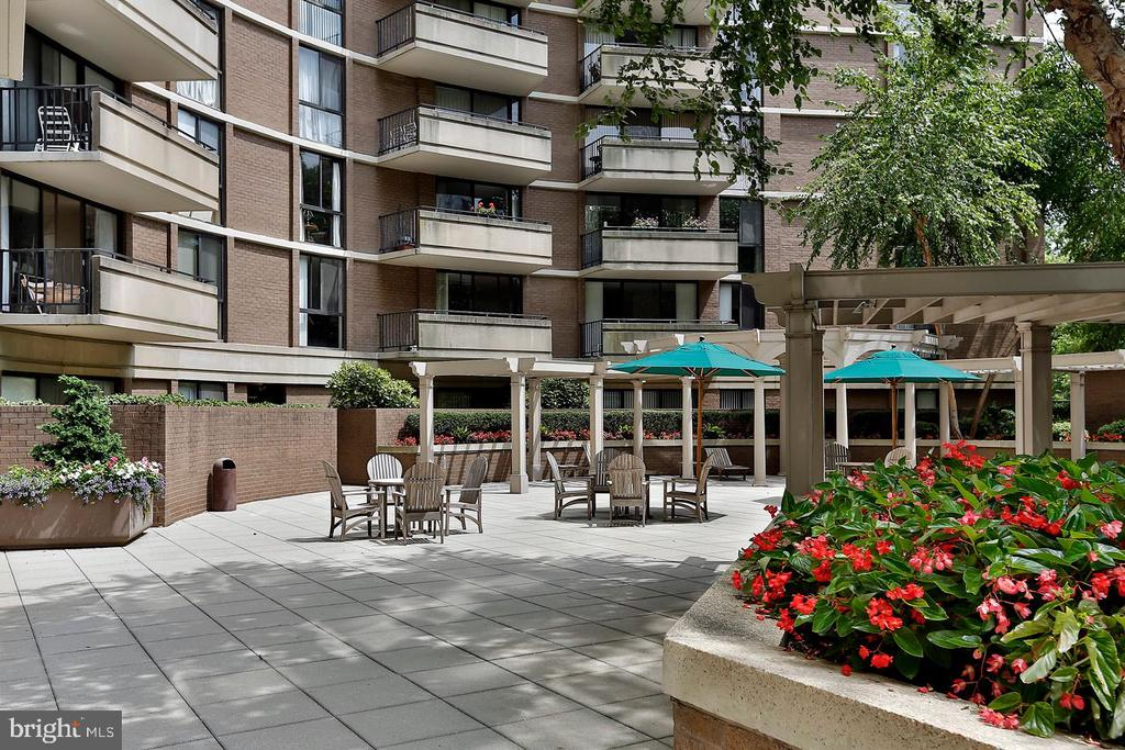 Patio - 4620 N PARK AVE #1411E, CHEVY CHASE