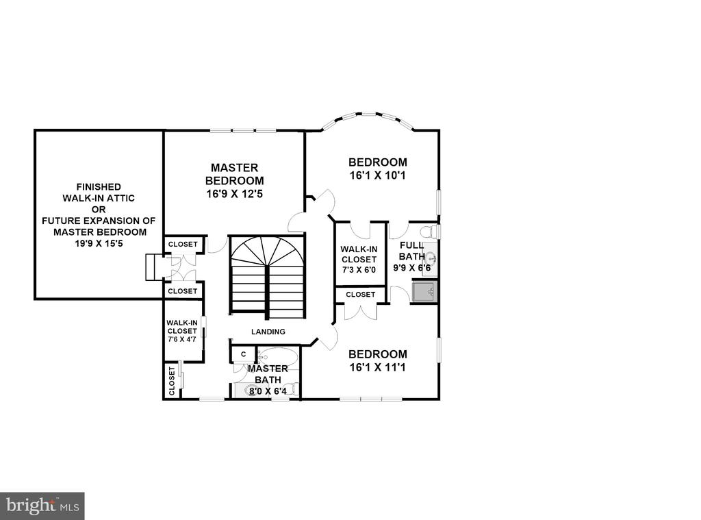 Upper Level (Dimensions/Scale Approximate) - 3905 BELLE RIVE TER, ALEXANDRIA