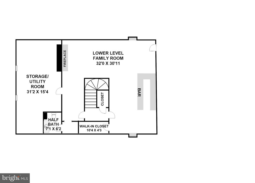 Lower Level (Dimensions/Scale Approximate) - 3905 BELLE RIVE TER, ALEXANDRIA