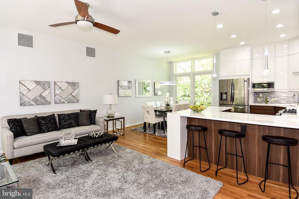 Living/Kitchen - 54 G ST SW #113, WASHINGTON