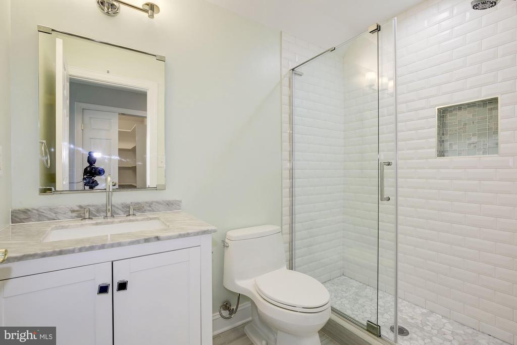 Newly renovated bathroom on 4th level - 5900 RYLAND DR, BETHESDA