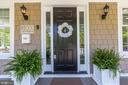 Stately and classic  front entrance - 5900 RYLAND DR, BETHESDA