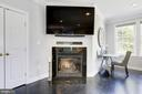 Gas fireplace to warm up the room - 5900 RYLAND DR, BETHESDA