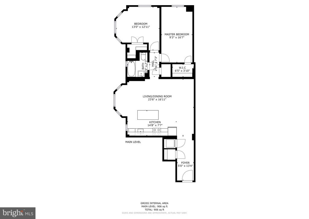Floor Plan - 1701 16TH ST NW #715, WASHINGTON