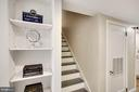 Built-in Bookshelves Lower Level. - 3030 N QUINCY ST, ARLINGTON