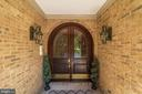 Arched Entry Doors with Leaded Glass - 6507 BURKE WOODS DR, BURKE