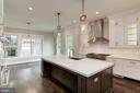 Gourmet Kitchen with Island - 3201 WINNETT RD, CHEVY CHASE