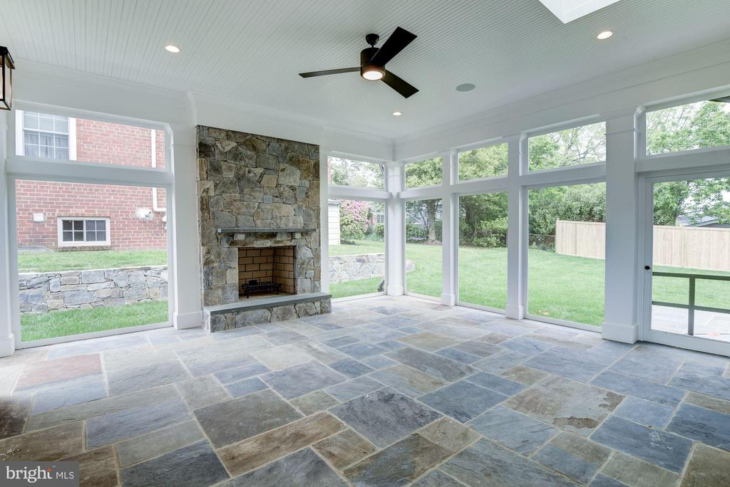 Screened Porch with Fireplace - 3201 WINNETT RD, CHEVY CHASE