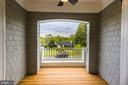 Covered Balcony off of Master Bedroom - 3201 WINNETT RD, CHEVY CHASE