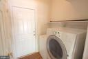 Laundry Room  w/Utility Closet & Exit to Garage - 612 LAKEVIEW PKWY, LOCUST GROVE
