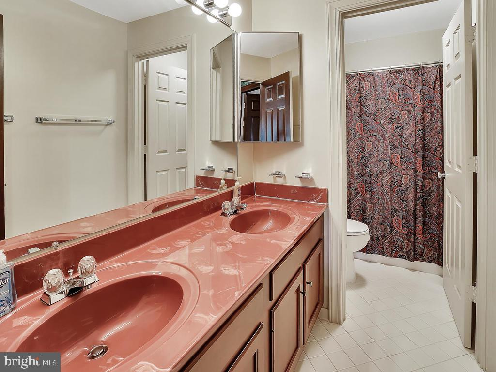 Upper level hall bath with dual vanity - 11667 FAIRMONT PL, IJAMSVILLE