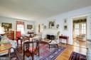 Living Room with Custom Mantel - 3828 GRAMERCY ST NW, WASHINGTON