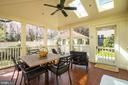 Porch with Cathedral Ceilings, skylights and fan - 3828 GRAMERCY ST NW, WASHINGTON