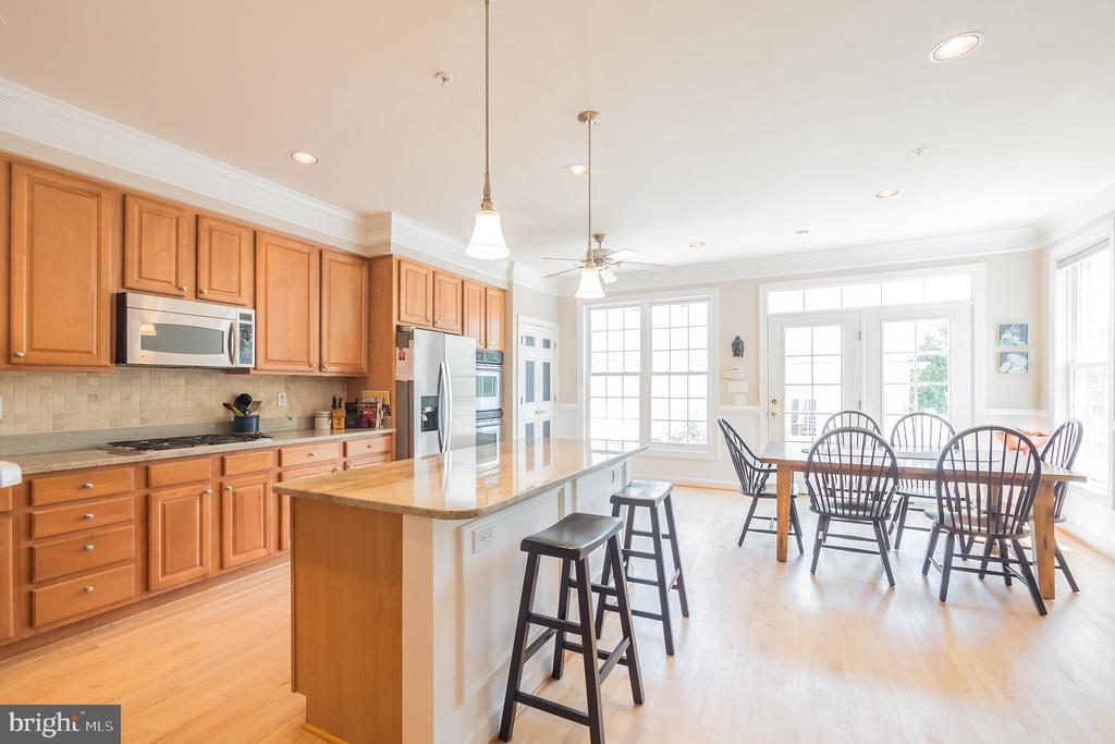 Gourmet Kitchen and Family Room Area - 3651 TAVISTOCK RD, FREDERICK