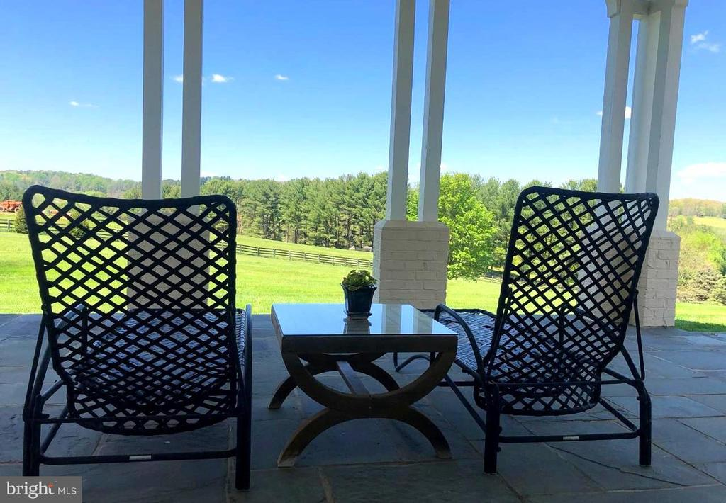 Expansive views from MBR covered bluestone terrace - 2200 GADD RD, COCKEYSVILLE