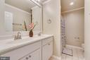 Upper Level Full Bathroom with Double Sink Vanity - 646 HOLLY CORNER RD, FREDERICKSBURG