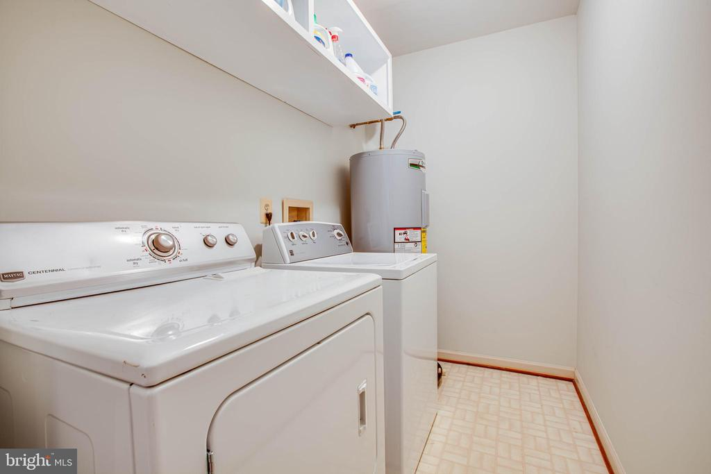 New water heater and laundry storage shelf (main) - 9521 RAPIDAN DR, FREDERICKSBURG