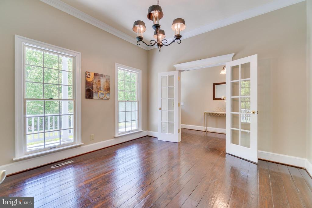 Dining Room French Doors/Floor to Ceiling Windows - 646 HOLLY CORNER RD, FREDERICKSBURG