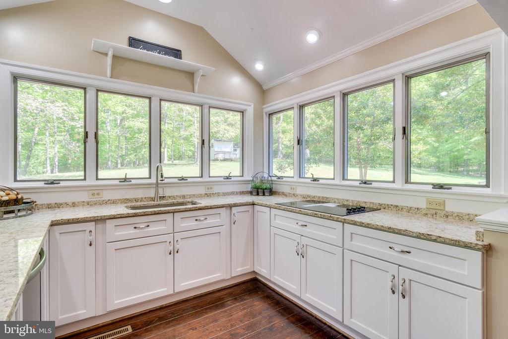 Windows on 3 sides with views of the property. - 646 HOLLY CORNER RD, FREDERICKSBURG