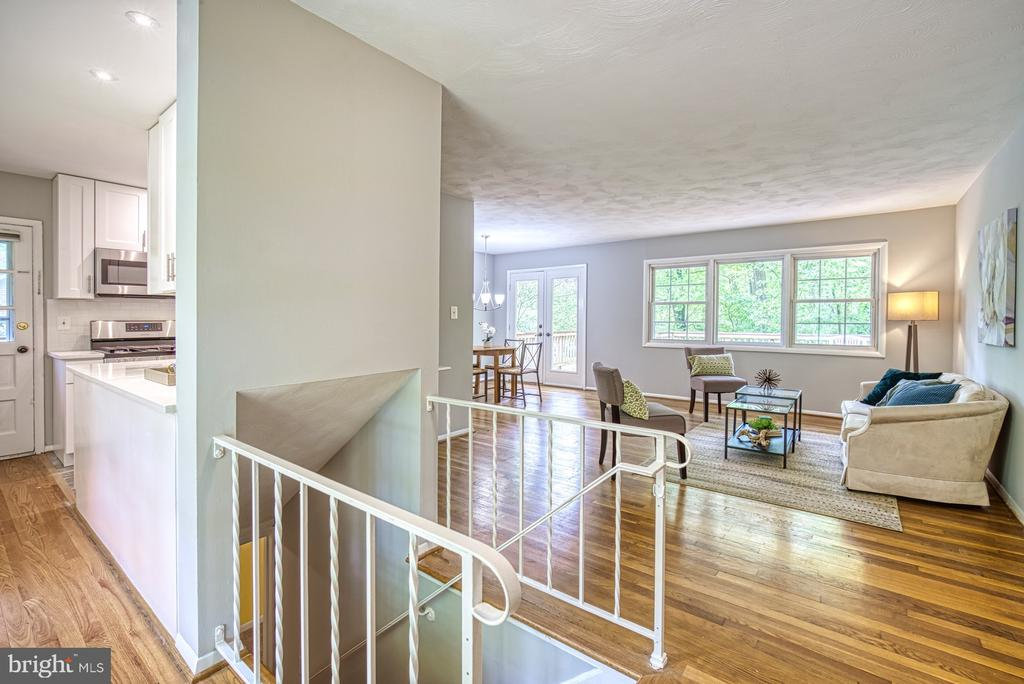 Lovely view from the foyer - 2612 HILLSMAN ST, FALLS CHURCH